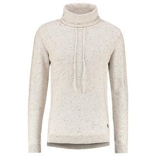 Jack & Jones NEW White Ivory Mens Large L Speckled Funnel neck Sweater