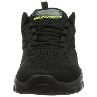 Skechers Mens Synergy-Power Switch Running Shoe Black 7.5 M