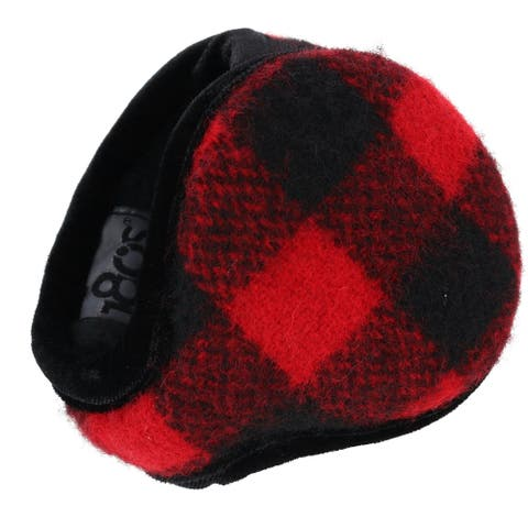 180s Women's Buffalo Plaid Ear Warmers - one size
