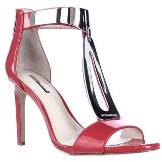 BCBGeneration Cypria Metal T-Strap Ankle Cuff Sandals - Passion