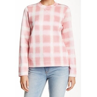 Marc by Marc Jacobs NEW Pink Women XS Blurred Gingham Pullover Sweater