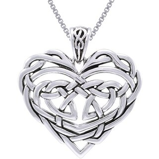 Link to Sterling Silver Celtic Lace Heart Necklace Similar Items in Necklaces