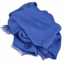 Gucci Women's 307245 ROYAL BLUE Modal Cotton GG Guccissima Scarf Wrap