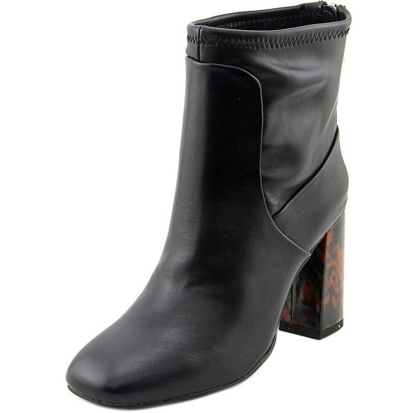 Trudy Round Toe Synthetic Ankle Boot