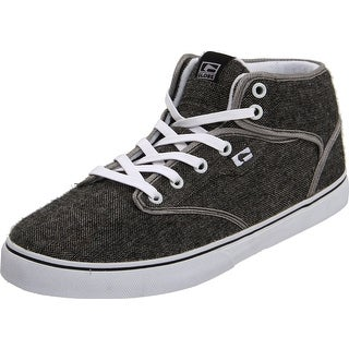 Globe Men's Motley Mid Skateboarding Shoe - distressed grey/white