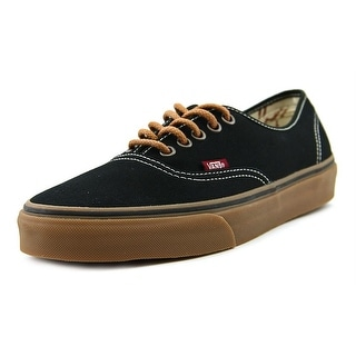 Vans Authentic Men Round Toe Canvas Black Sneakers