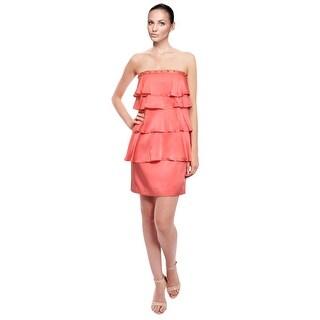 Laundry Striking Silk Cascade Beaded Dress