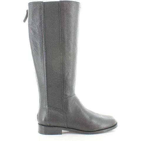 ED Ellen DeGeneres Womens ED- ZALIKA Leather Round Toe Knee High Riding Boots