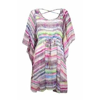 Jessica Simpson Women's Tie-Dyed Belted Dress Swim Cover