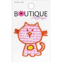 Pink Cat - Iron-On Appliques