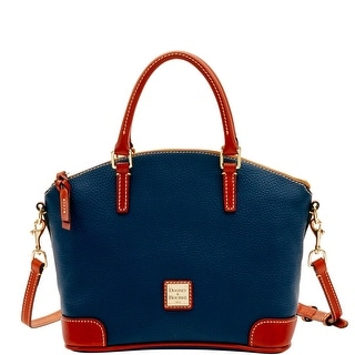 Dooney & Bourke Pebble Grain Charli Satchel (Introduced by Dooney & Bourke at $228 in Jul 2016) - Midnight Blue