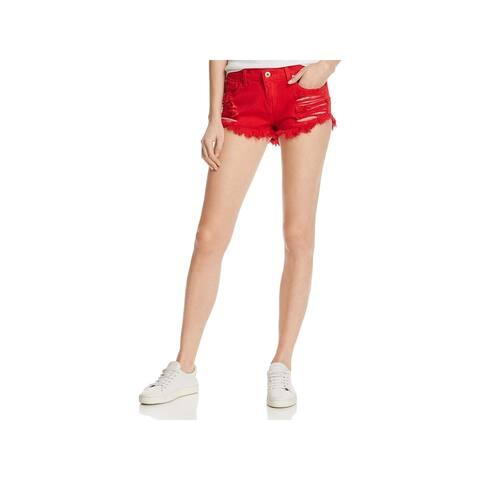 Pistola Womens Gigi Denim Shorts Cutoff Low Rise