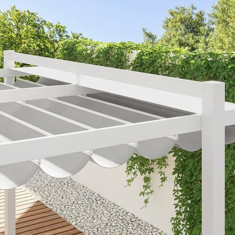 Pergola - Gazebo 11.75' X 9.8' Canopy - Aluminum - Sliding Shade