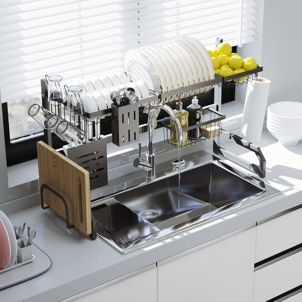 Shop Multifunction Over The Sink Dish Rack Overstock 31757955