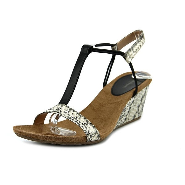 Style & Co Mulan Women Open Toe Synthetic Ivory Wedge Sandal
