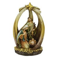 "12"" Religious Holy Family with Star of Bethlehem Christmas Nativity Figure"