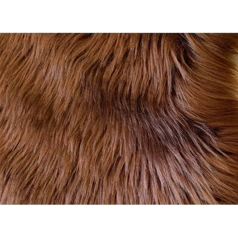 Ovella Home Premium Luxurious Faux Sheepskin 3-Pelt Plush Shag Area Rug - 3' x 5'6' - 3' x 6'