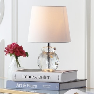 """Link to Safavieh Lighting 13-inch Eunice Crystal Table Lamp - 9""""x9""""x13"""" Similar Items in Table Lamps"""