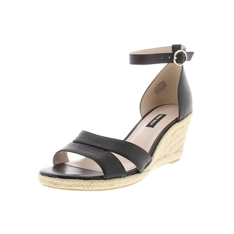 Nine West Womens Jeranna Espadrilles Mixed Media Ankle Strap