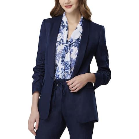 Tahari ASL Womens Petites Jacket Linen Suit Seperates