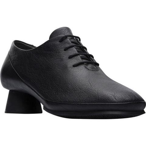 Camper Women's Alright Oxford Black Smooth Textured Leather