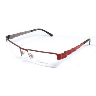 Boucheron Unisex Skinny Rectangular Eyeglasses Red - S