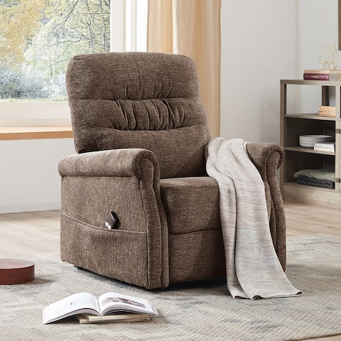 Merax Soft Fabric Upholstery Recliner Chair with Remote