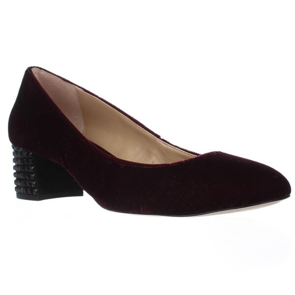 MICHAEL Michael Kors Arabella Heel Studded Kitten Pumps, Plum