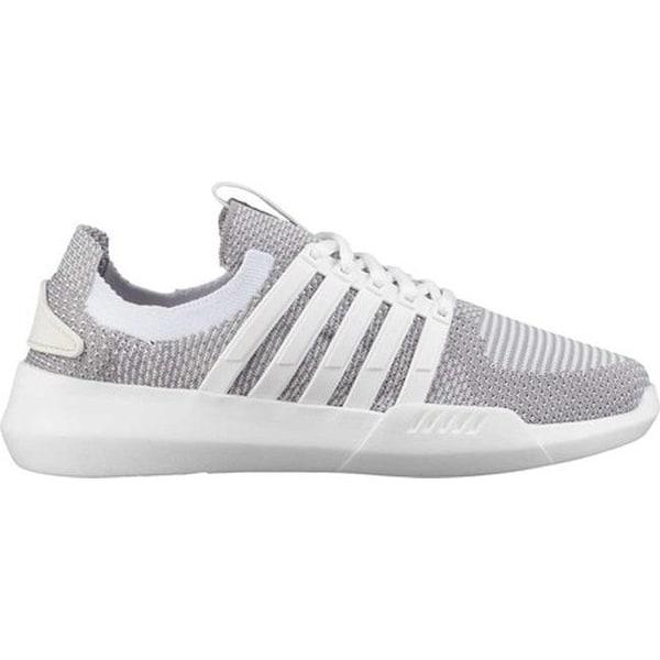 c7099bbc97de2 K-Swiss Women's Gen-K Manifesto Knit Sneaker White/Gull Grey/White