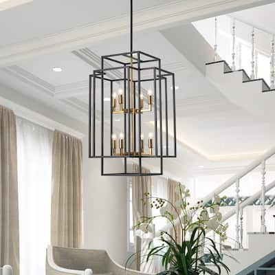 8 - Light Lantern Tiered Chandelier