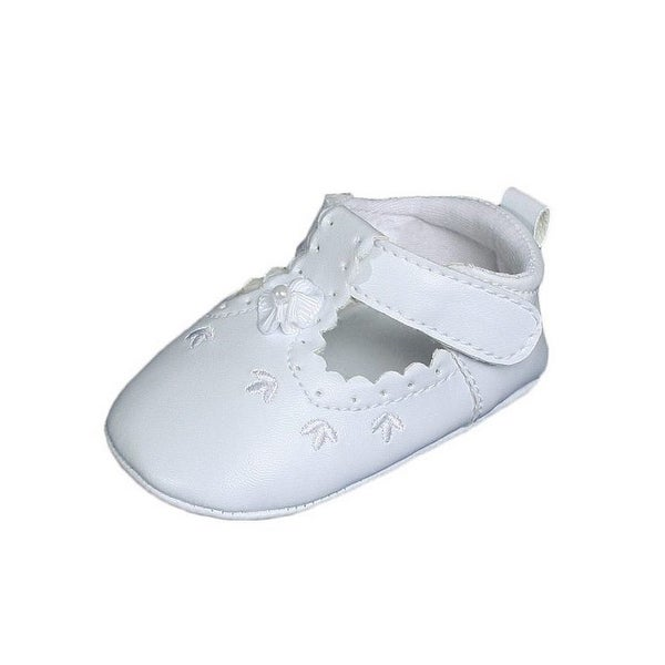 Shop Baby Girls White Faux Leather Mary