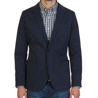 Nautica NEW Navy Blue Mens Size Medium M Two Button Notched Blazer