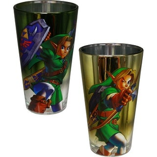 Legend of Zelda Pint Glass Set of 2