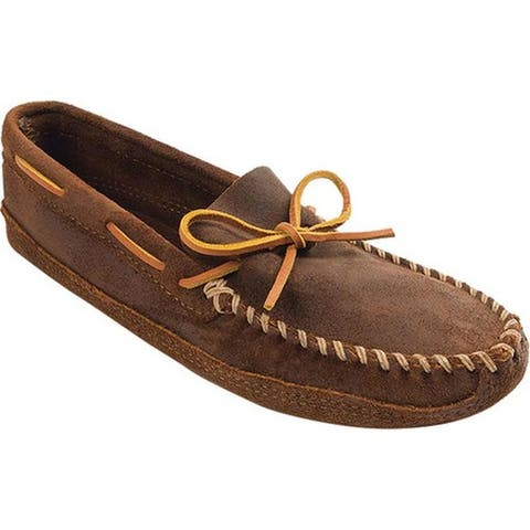 Minnetonka Men's Double Bottom Softsole Brown Ruff