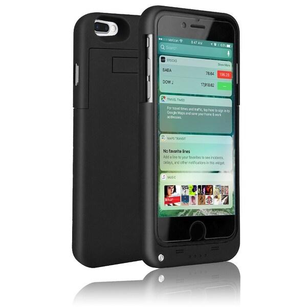 Indigi® Ultra Slim iPhone 7 Plus Rechargeable JuicePack Battery Case - Black - 4000mAh