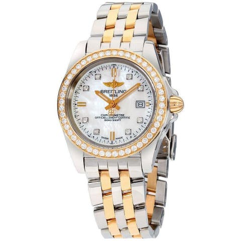 Breitling Women's C7133053-A803-792C 'Galactic' Two-Tone Stainless Steel Watch - Silver