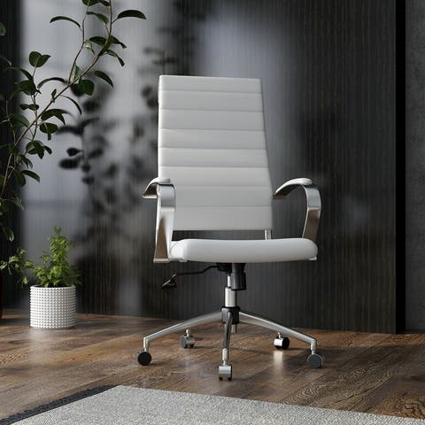 Offipify® High Back Office Chair,Adjustable Swivel Chair , Ergonomic Desk Chair for Extra Back & Lumbar Support.
