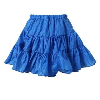 Richie House Girls' Purple Lightweight Ruffled Skirt