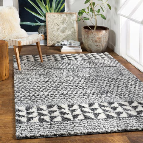 Marlie Nordic Stripe Plush Area Rug