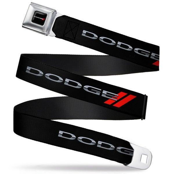 Dodge Red Rhombus Full Color Dodge Red Rhombus Seatbelt Belt Fashion Belt