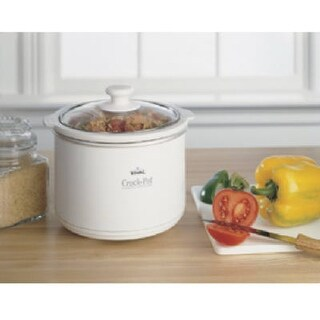 Rival SCR151-WG-NP 1.5 Quart White Slow Cooker