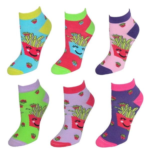 Nollia Women's Novelty Pattern Low Cut Socks (6 Pair Pack)