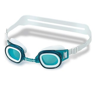 Recreational Junior Blue Goggles Swimming Pool Accessory for Ages 4 and up 6""