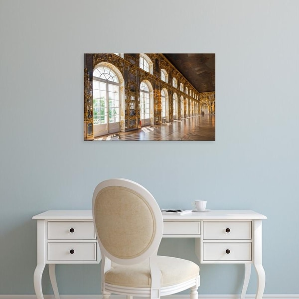 Easy Art Prints Walter Bibikow's 'Catherine Palace Great Hall' Premium Canvas Art