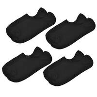 Father's Day 4 Pairs Black Pure Color No Show Sport Ankle Boat Socks for Men