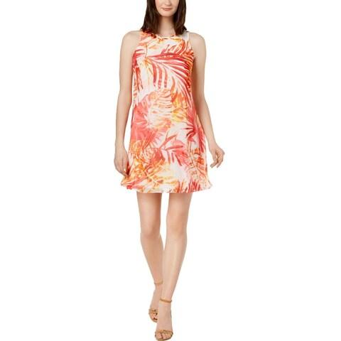 Calvin Klein Womens Cocktail Dress Chiffon Mini