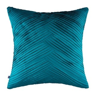 100% Handmade Imported Criss-Cross Pillow Cover, Teal