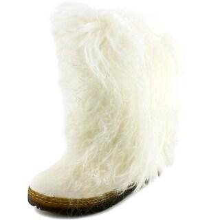 Bearpaw Boetis II Women Round Toe Suede White Winter Boot