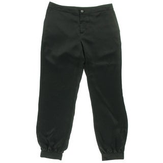 Lauren Ralph Lauren Womens Sateen Shirred Dress Pants - 4