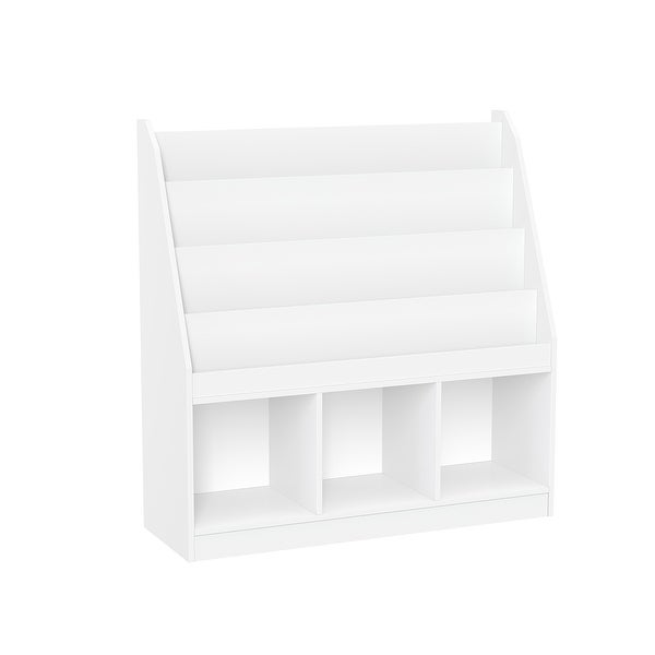 RiverRidge Home Kids Bookrack with Three Cubbies, White. Opens flyout.